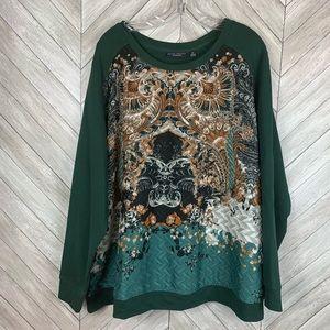 Susan Graver Weekend dressy sweatshirt